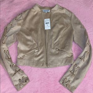 NWT Nude suede jacket size S
